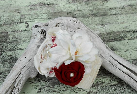 Farmgirl bracelet Bridesmaid corsage Cottage by TrueRebelClothing, $24.00