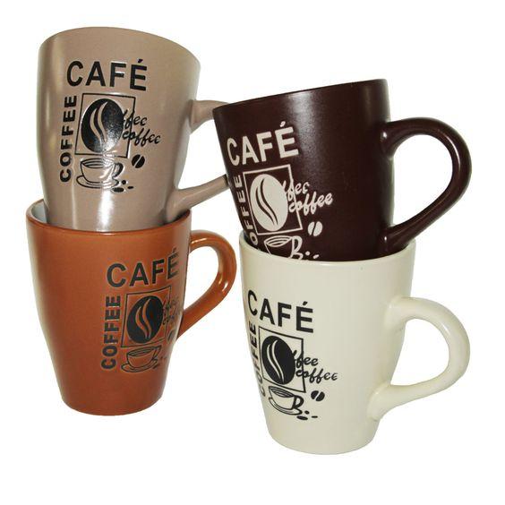 Becher Coffee Kaffeebecher Kaffee; Maße 10,3 x 8,5 cm; Fassungsvermögen 275 ml; Porzellan; spülmaschinen- und mikrowellengeeignet