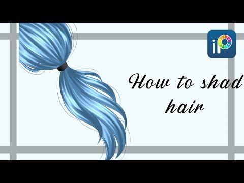 How To Shade Hair Easy Ibis Paint X Tutorial Youtube In 2020 How To Shade Eye Drawing Tutorials Digital Painting Tutorials
