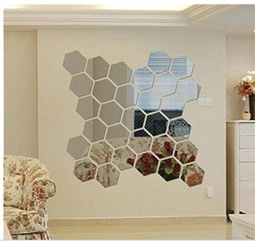 Itta 3d Acrylic Diy Wall Decorative Self Adhesive Mirror Wall