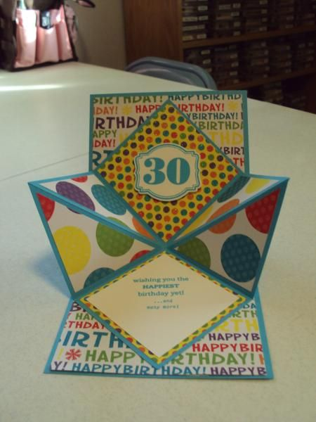Meghan's 30th Birthday (Open) by Judy'sSister - Cards and Paper Crafts at Splitcoaststampers