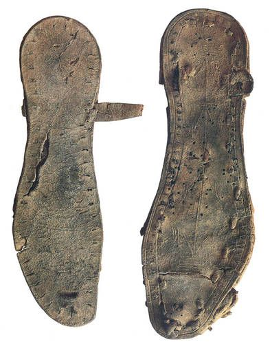 Leather Sandals Found in the Qumran Caves. 2000 years old