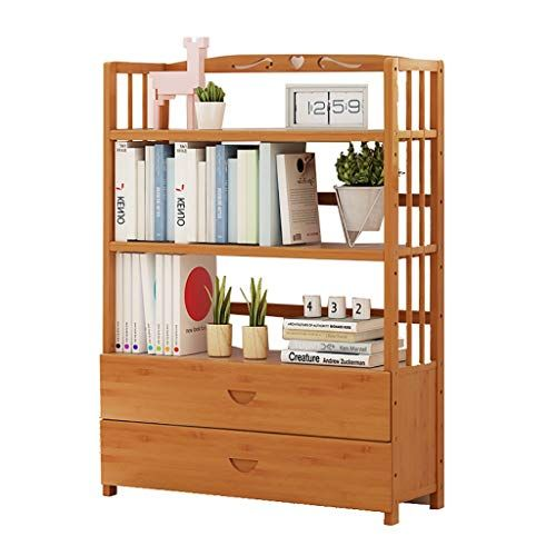 Wall Bookshelves Solid Wood 4 Layer Bookcase Simple Bookshelf For