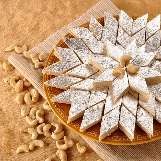 Kaju Barfi / Kaju Katli (Cashew Slice) Recipe