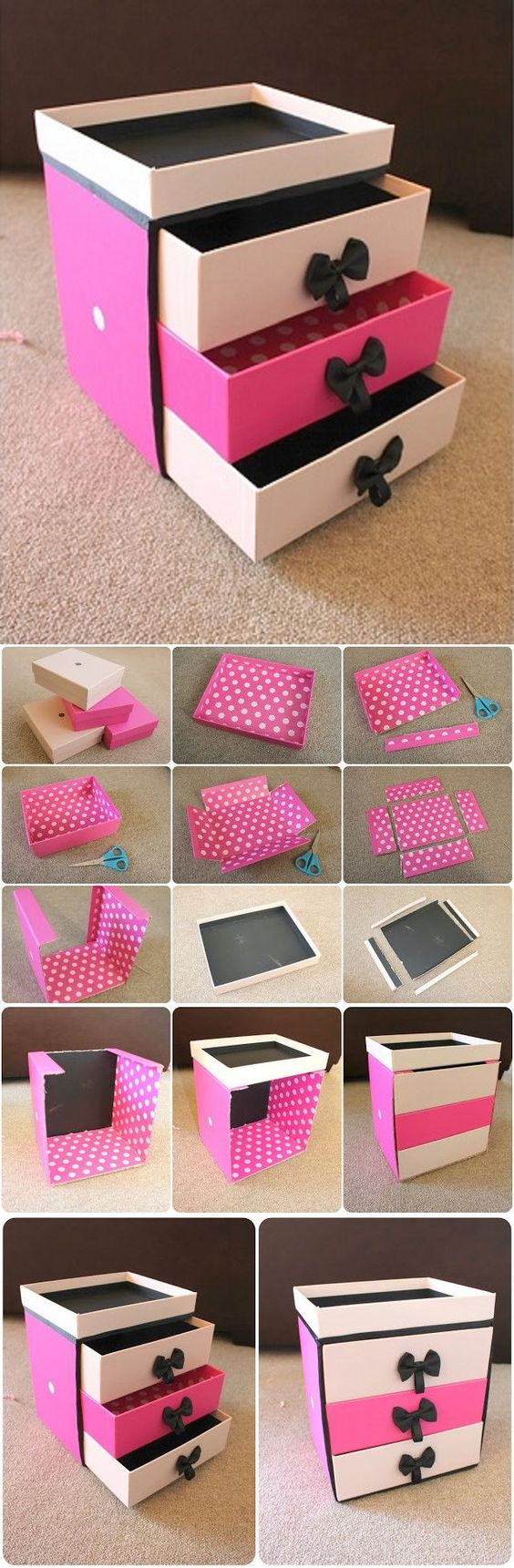 Mini Cassettiera Fai Da Te riciclo scatole: ecco come creare fantastici organizer