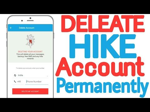 How To Delete Hike Account Permanently Youtube Accounting Youtube Teaching