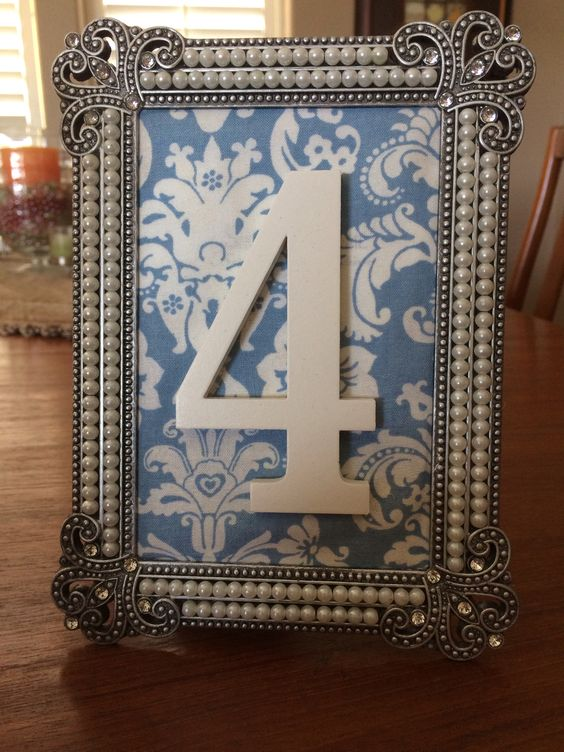 diy wedding table numbers frames fabric from joann fabrics