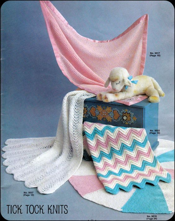 No.53 PDF Baby Blanket Patterns Vintage Knitting AND Crochet - 4 ...