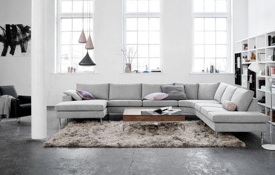 Canap s meubles design salon moderne et pur avec 3 for 2 canapes differents dans un salon