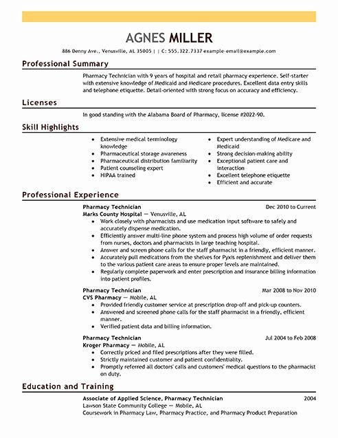 Pharmacy Tech Resume Samples Unique Best Pharmacy Technician Resume Example Engineering Resume Engineering Resume Templates Resume Software