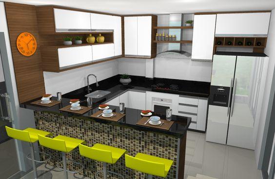Cozinha com Balçao #JozianiCorrea #Interiores