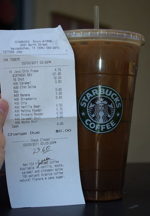 Most expensive Starbucks drink in the world?