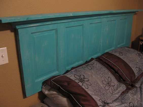 Our new headboard we built.