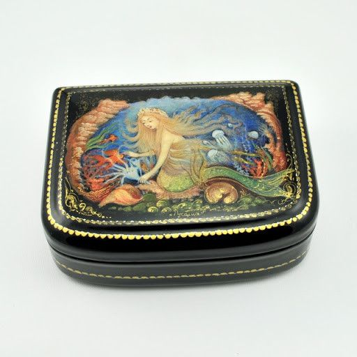 [2471] mermaid russian lacquer box