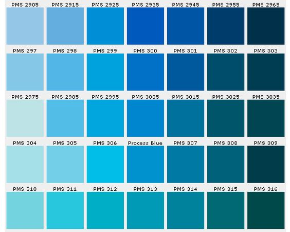 Image result for blue colour chart