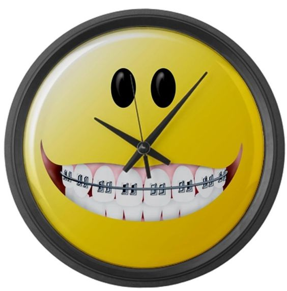 Braces Smiley Face Large Wall Clock Gadgets Pinterest