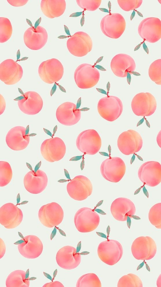 Cute Prints And Patterns Designs Peach Wallpaper Fruit Wallpaper Iphone Wallpaper
