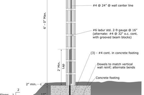 Wall Astounding Inspiration Cmu Wall Design Example Guide Spreadsheet Excel Retaining Shear Foundation Block Ul From 35 Cmu Wall Design Concrete Footings Wall