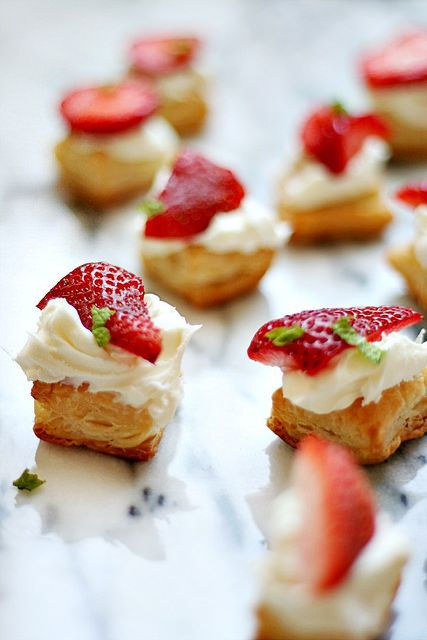 Strawberry pastry bites by Heather| French Press