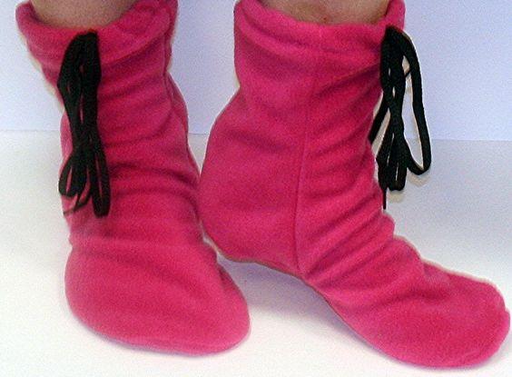 Free Flecce Patterns | Moccasin Slipper Boots Pdf Pattern ...