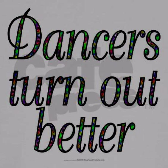 LOL!  Most likely only dancers will get this...