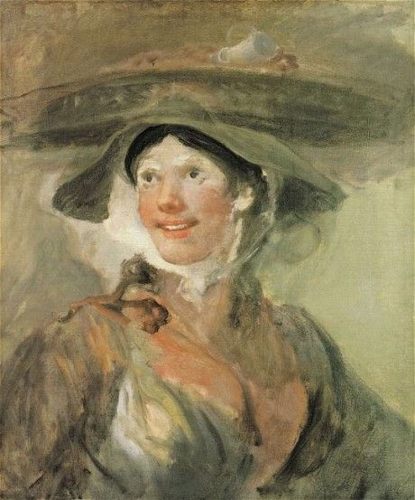 William Hogarth // The girl with the shrimps // Sketch // National Gallery London: