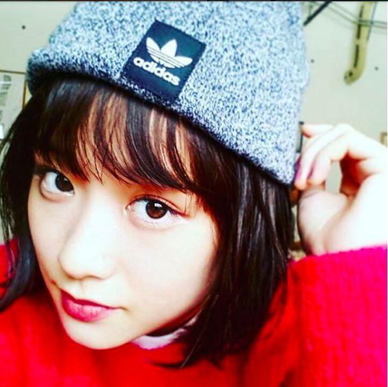 ニット帽をかぶる大原櫻子