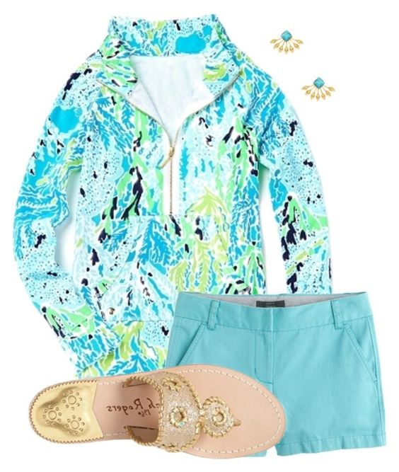 """Untitled #252"" by christyaphan on Polyvore featuring Lilly Pulitzer, J.Crew, Jack Rogers and Elizabeth Cole"