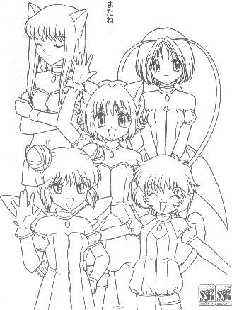 tokyo mew mew coloring pages Google Search tokyo mew mew