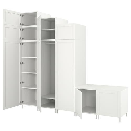 Ophus Garderob Belyj Fonnes Sannidal 340x42x241 Sm Schrank Ikea Garderoben Ideen Weisse Turen
