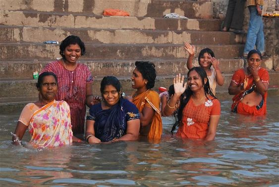Image result for indian women in the river
