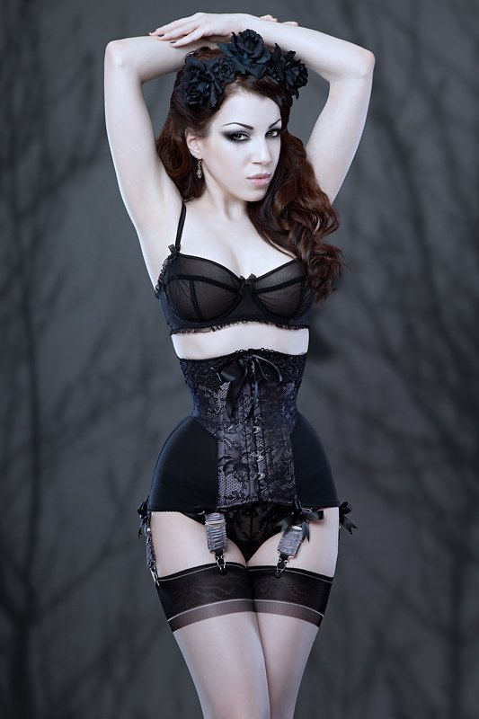 mf1345 raschel lace powermesh longline underbust corset. Black Bedroom Furniture Sets. Home Design Ideas