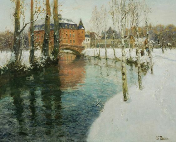 A Château in Normandy, Frits Thaulow