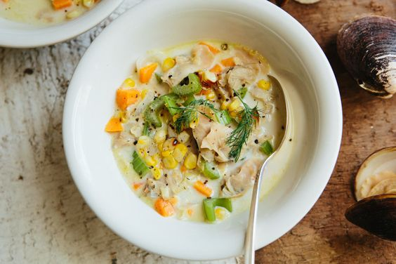 Dairy-Free Clam and Corn Chowder — A Thought For Food
