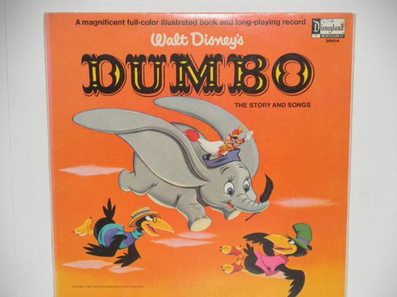 DUMBO is a Disney record released in 1965 with songs and story told by Timothy Mouse. 3904    SIDE 1  Casey Jr.  Baby Mine    SIDE 2  Pink