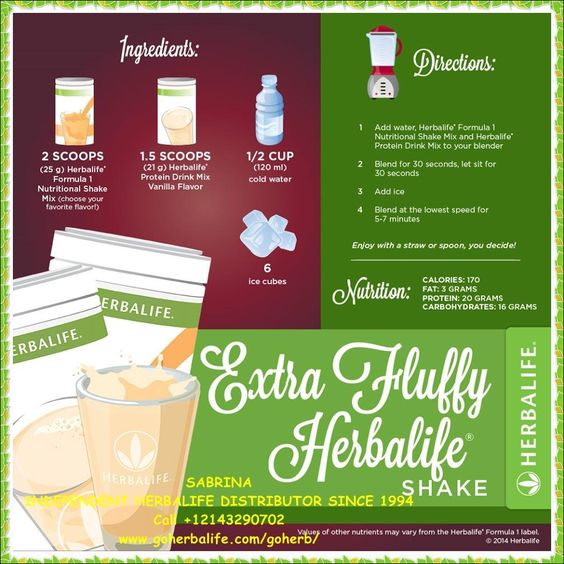 how to make herbalife meal replacement shake