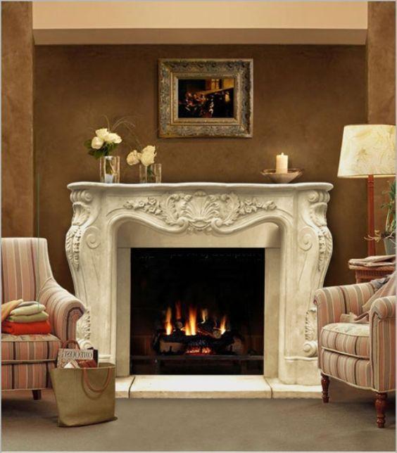 62 Chateau Series Louis Xiii Cast Stone Fireplace Mantel