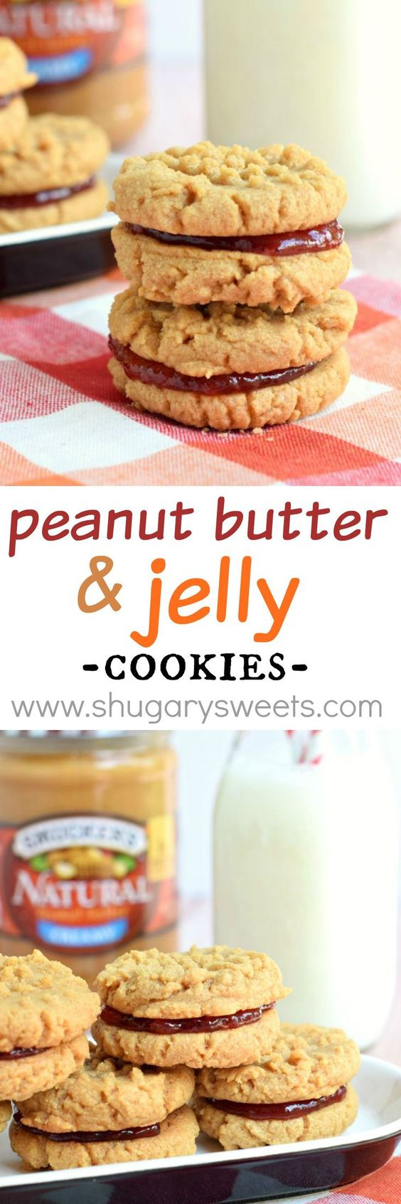 Peanut Butter and Jelly Sandwich Cookies:
