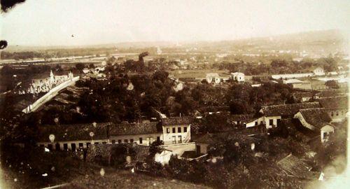 View from Guaratigueta (Brazil) circa 1908