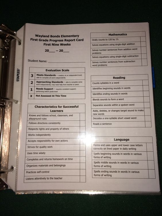 first grade progress report template - elementary progress report homeschool guidance