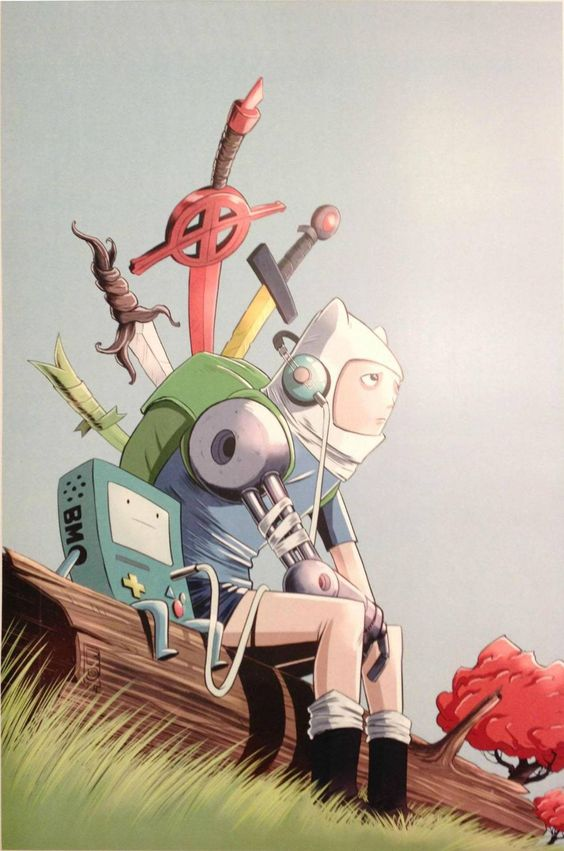 Adventure Time - Finn and Beemo by Steve Bowman *