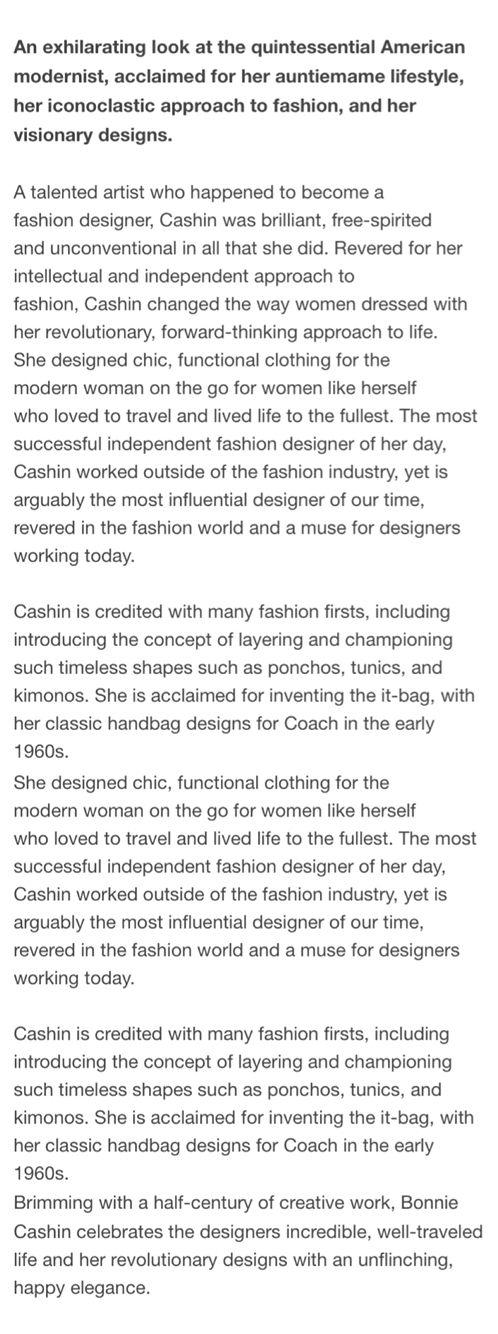Bonnie Cashin \ Coach 1960u0027s The Mod 1960u0027s Pinterest - trailer driver resume