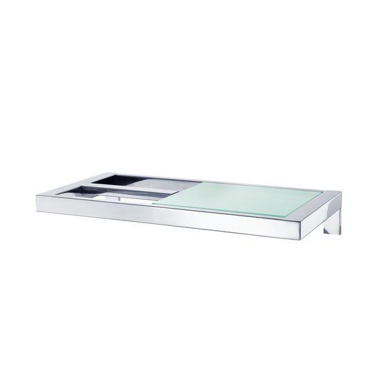 MENOTO WC-Rollenhalter mit Glasablage