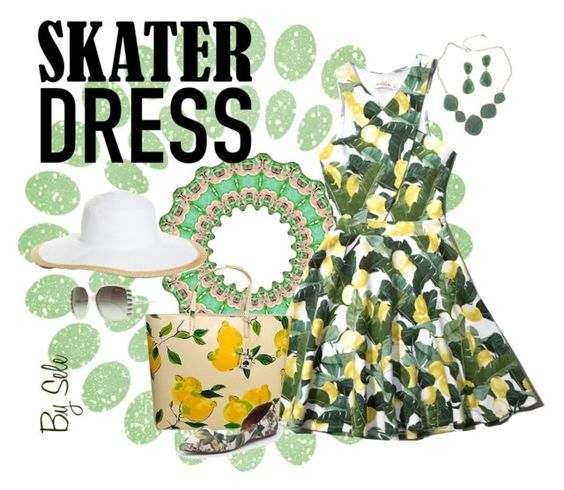 """""""Summer Style: Cutout Skater Dress - Contest"""" by selene-cinzia ❤ liked on Polyvore"""