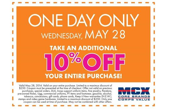 One Day Only, 28 May, Coupon, Quantico MCX