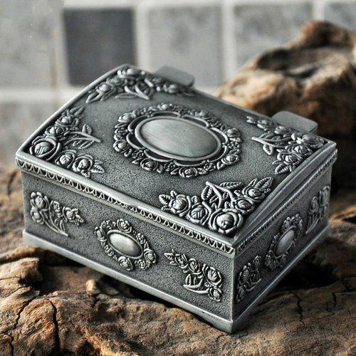 Fashion Retro Antique European Style metal Box Storage Case