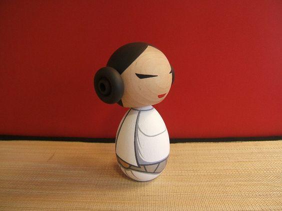 Kokeshi Doll. Princess  inspired Custom by temple7e on Etsy, $35.00