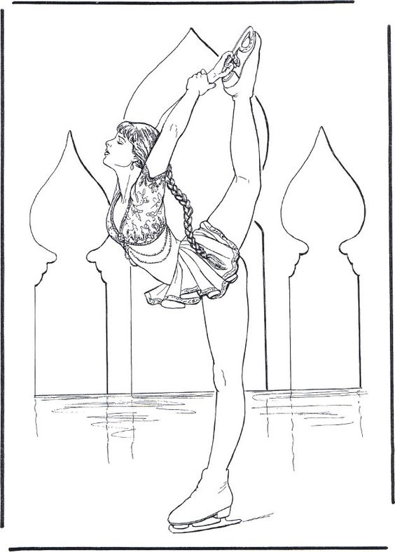children ice skating coloring pages - photo#19