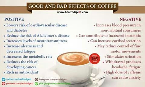 Good Bad Effects Of Coffee Health N Care Pinterest - Good bad effects coffee can