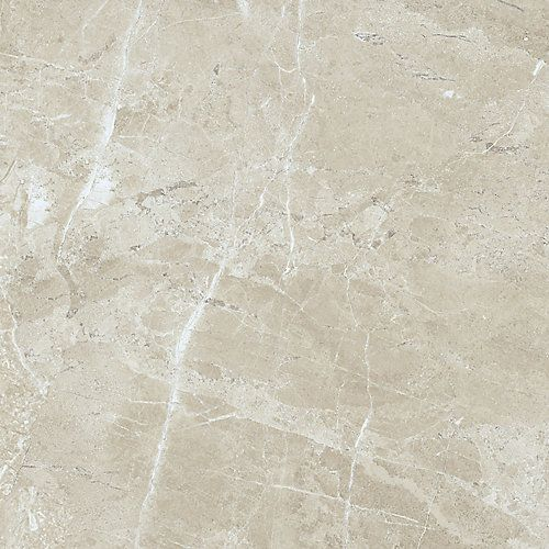 Porcelain Tile With A Natural Marble Look Offers The